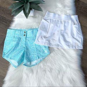 Bundle Adidas Shorts and Skort White Blue Girls M